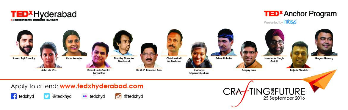 Register and Reserve Your Seat for TEDxHyderabad 2016
