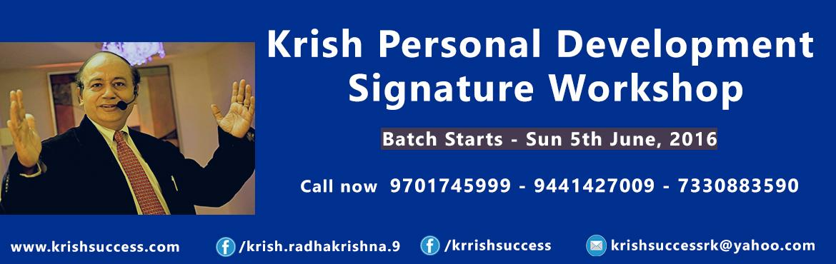 Krish Personal Development Signature Work Shop