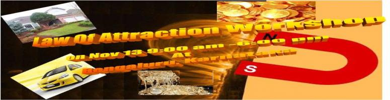 Book Online Tickets for LOA - Law Of Attraction @ Bangalore on 1, Bengaluru. Law of Attraction Workshop by Tranquil Gardens