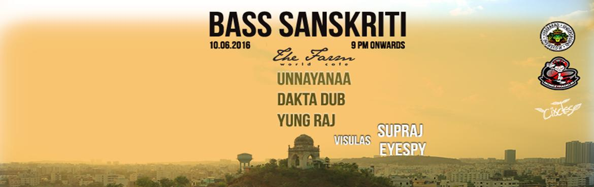 Book Online Tickets for BASS SANSKRITI - Electronic Bass Music N, Hyderabad. BASS Sanskriti is a Hyderabad based Ungerground Music events property, focused on events for people who love bass heavy music genres such as Dub, Reggae, Dancehall, Dubstep, Junge/Drum n Bass and all other bass heavy sub genres. BASS Sanskriti o