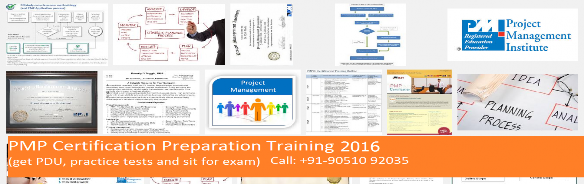 Book Online Tickets for PMP Certification Preparation Classroom , Kolkata. The Project Management Professional (PMP®) program is designed to lead the participant to an internationally recognized certification from the Project Management Institute (PMI®)(USA). The program will help individuals prepare for the Project