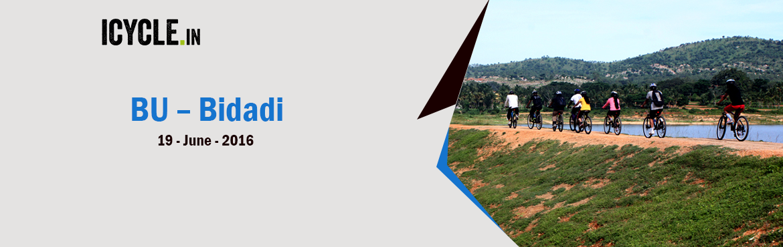 Book Online Tickets for BU BIDADI  19-JUN-2016, Bengaluru. BU – BIDADI – BU: Level 2: An off-city trail of approx 60 kms starting from Bangalore University towards Bidadi, via Dodda Alada Mara.  An all weather favourite trail among most of the cyclists, this is a detour trail avoiding all t