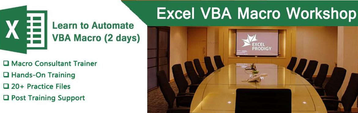 Book Online Tickets for Automate Excel using Excel VBA Macro 25t, Bengaluru. Excel VBA Macro Automation in Bangalore Be a Microsoft® Excel® Macro Expert in Just 2 days  Excel VBA Macro course concentrates on programming aspects of Excel Including Recorded Macros, Editor, Variables, Custom