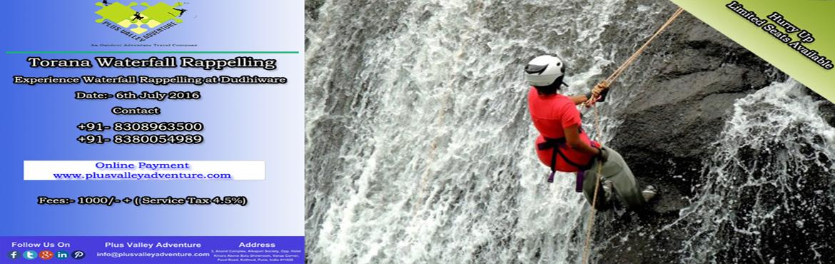 Book Online Tickets for Torna Waterfall Rappelling, Velhe. Torna has always been one of the popular forts for the adventure seeking trekkers. While the trek to the fort is an interesting one, this Programme aims at a unique adventure of rappelling down a waterfall. The necessary safety norms of belaying, har