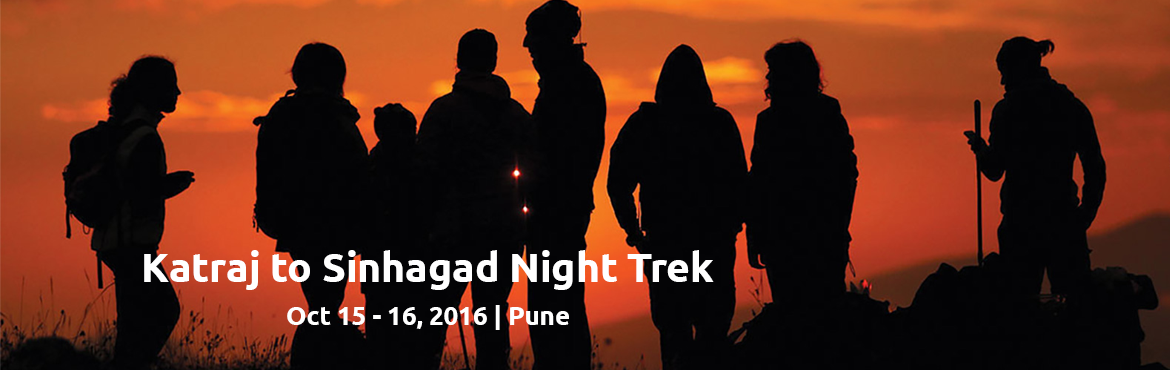 "Book Online Tickets for Katraj to Sinhagad Night Trek, Pune. About The Event    Katraj to Sinhagad or as we call it ""K2S"" is a popular night trek for professional trekkers, amateurs and newbie's. The route starts from the Katraj Tunnel Top (Old), travels through a series of mountains and"
