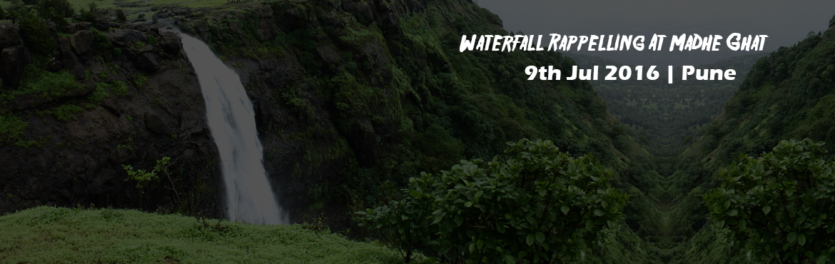 Book Online Tickets for Waterfall Rappelling At Madhe Ghat , Pune. Waterfall rappelling in Madhe Ghat will transport you to a parallel world teeming with unlimited adventures and excitement galore! Imagine scouring down a rapidly streaming waterfall from 120ft with slippery rocks and thick green vegetation all aroun