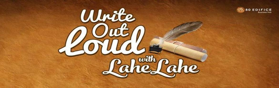 Book Online Tickets for Write Out Loud 18 Spoken Word Poetry, Kodihalli. Lahe Lahe brings to you an evening of soul on paper. Every Tuesday we\'re bringing to you a heart-plucking session of poetry, and good company.+++++++++++++++++++++++++++++++++++++++++++++++++The theme this time is ---------The new poet is -----