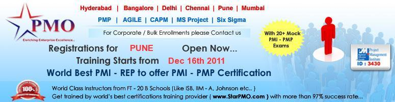 Book Online Tickets for Project Management Professional (PMP) Ce, Pune. PMP Certification Workshop with Free training on MSP 2010