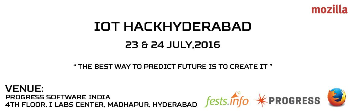 Book Online Tickets for IoT HackHyderabad  , Hyderabad.  IoT HackHyderabad is a 2-day hackathon which creates on-the-spot teams of technologists to shape the next generation of the connected internet.   IoT HackHyderabad, where Things and Cities become Smarter! Make an Impact for Our Hyderabad i