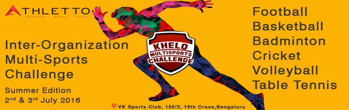 Book Online Tickets for Inter - Organization Multi - Sports Chal, Bengaluru. About Leh Leh Sports  Designed & executed sports initiatives for more than 200 clients in more than 20 sports 1,500 trophies lifted, 500+ tournaments & 25 Leagues staged already 10,000+ matches in multiple sports such as Cricket, Football, Ba