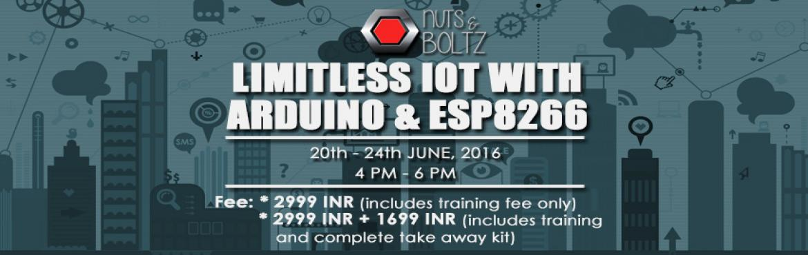 Book Online Tickets for Limitless IOT with Arduino and ESP8266, NewDelhi. COURSE OUTLINE: Internet of Things is a new revolution of the Internet. It's a multidiscipline domain, where it consists of concepts of embedded systems sensors, cloud computing, database management, wireless sensor networks, network security e