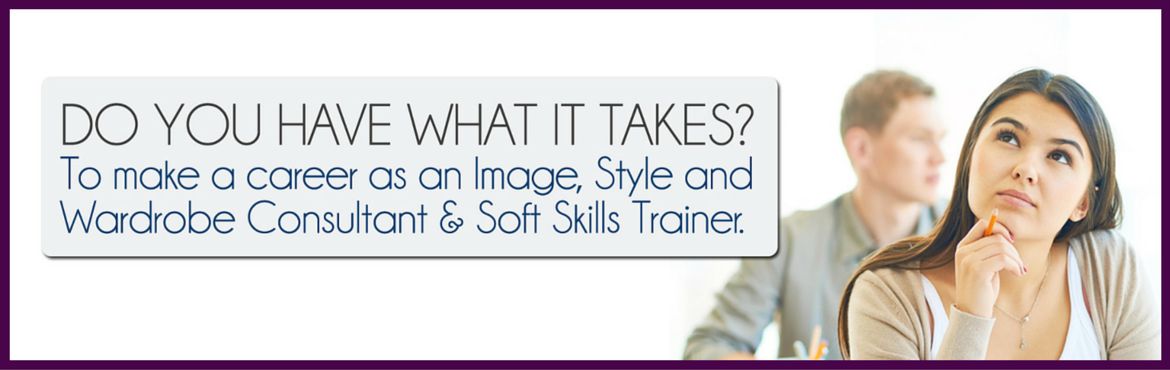 Book Online Tickets for Image Consulting Aptitude Test (Pune), Pune. A career as an Image, Style and Wardrobe Consultant & Soft Skills Trainer, is one of the fastest growing careers in India. This profession involves changing lives of thousands of people by guiding, coaching and training them to manage their appea
