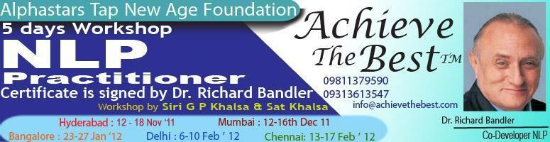 Dr Richard Bandlers(USA) Business NLP Workshop@Hyderabad from 12thto18th November 2011