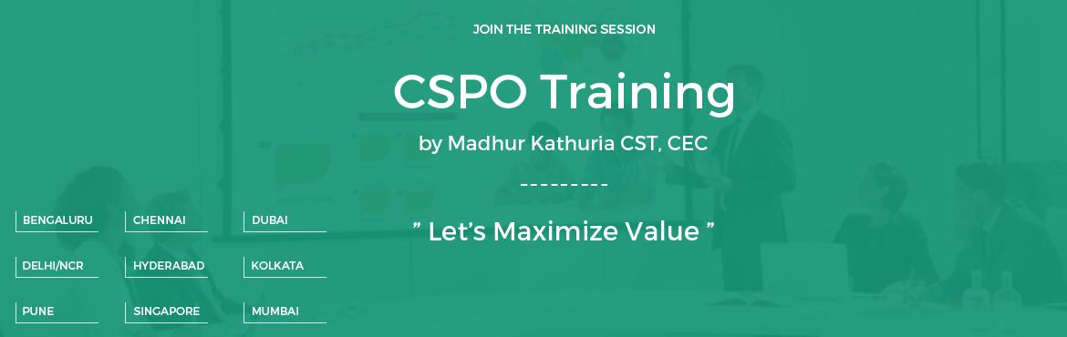 "Book Online Tickets for Certified Scrum Product Owner-CSPO- Work, Singapore.   Certified Scrum Product Owner (CSPO) Workshop; @Singapore   Date: 18-19 August, 2016   In this two-day CSPO training by ""Madhur Kathuria""; you will learn how to get better ROI delivered ?, how best to prioritize and estim"