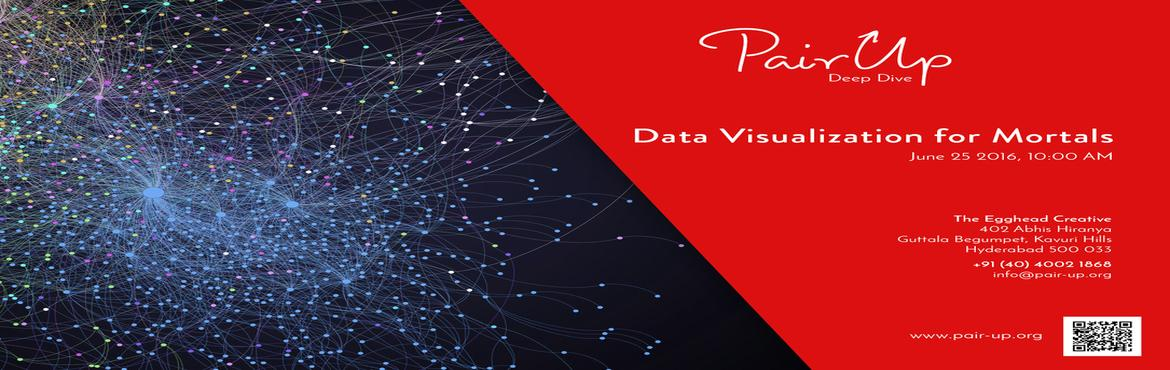 Book Online Tickets for Data Visualization for Mortals, Hyderabad.   This analytic workshop will focus upon data visualization and some of the best practices to keep in mind that can help you convert data into meaningful insights. Data visualization is a very powerful tool in the hands of any data analysts, and if d