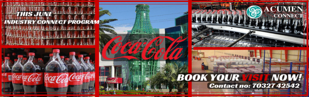 Book Online Tickets for INDUSTRIAL VISIT TO COCA-COLA INDIA , Secunderab.                      Beverages are an essential part of our meals everyday.E