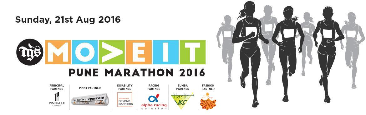 Book Online Tickets for TGS MOVEIT MARATHON PUNE - 21st Aug 2016, Pune. Dear runner,  TGS MOVEIT MARATHON - 3rd Edition - 21st Aug 2016 The team at TGS Move It! And The Golden Sparrow are excited to have you on board with the TGS Move It! Pune Marathon Aug2016. We had a rocking good time in March, June and we
