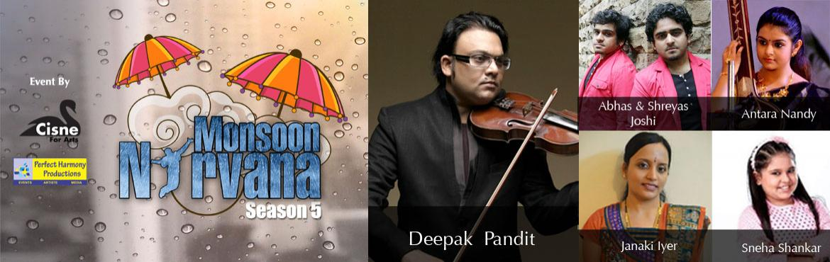 Book Online Tickets for Monsoon Nirvana - Season 5, Hyderabad. With the weather hinting at monsoons soon, hot Hyderabad is longing for a a new life. We here at Cisne For Arts are excited to bring a zesty, new season of our musical extravaganza, Monsoon Nirvana to shower the freshness of music and joy.An evening
