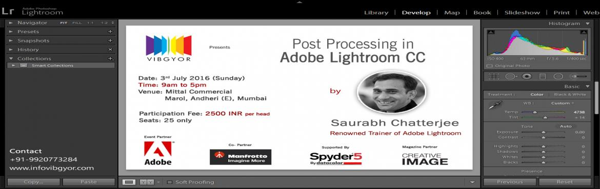 Post Processing in Adobe Lightroom CC
