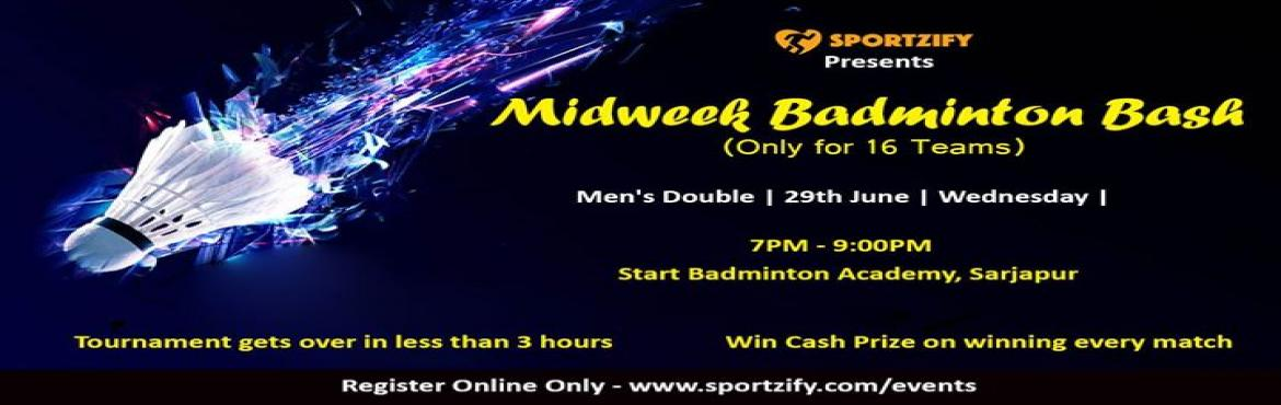 Book Online Tickets for MidWeek Badminton Bash - June, Bengaluru. MidWeek Badminton Bash- JuneMen's Doubles (Only 16 Teams) ONLY 2 TEAMS ARE PENDING so hurry up....29th June, Wednesday | Star Badminton Academy- Bangalore, Sarjapur Have you been part of the badminton tournament where the winning prize is