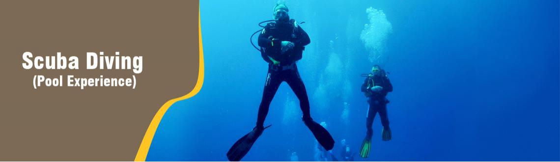 Book Online Tickets for Scuba Diving (Pool Experience)  copy, Hyderabad. Discover scuba diving (Non swimmers/swimmers)   Age:10 years and above   Duration of Training: 01 hour Theory and equipment familarization 01 hour scuba diving in the pool   Equipment familiarization, Dive Briefing, pool Dive, 2 SCUBA