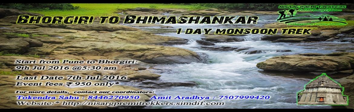 Bhimashankar Monsoon Trek(Via Bhorgiri) 9 Jul 2016