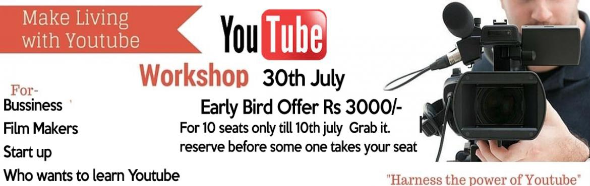 Book Online Tickets for YouTube Workshop , Hyderabad. Do you want to Make passive money? Do you want to show your talent? Do you want to promote your business for free? Do you want to get more customers? Are you looking to start your own Youtube channel? Do you want to build your Brand online? Youtube w