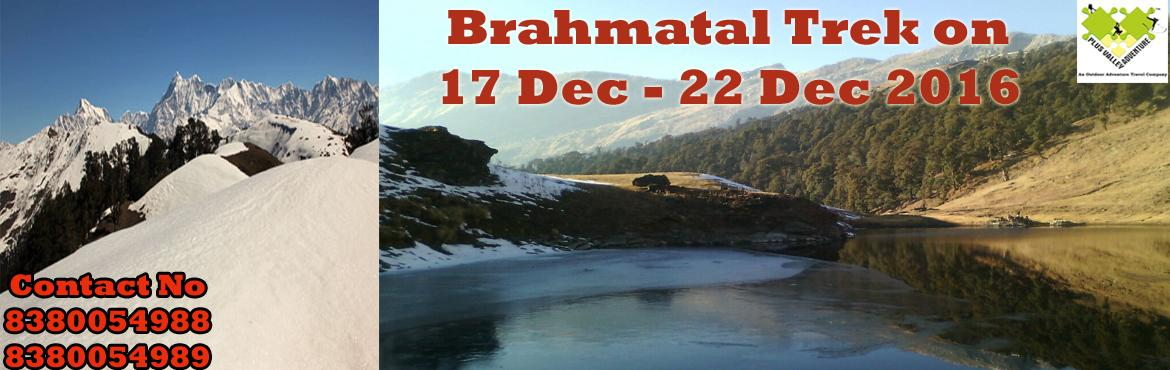 Book Online Tickets for Brahmatal Trek, Nainital. About The Event    Region:-Uttarakhand  Duration:- 6 Days Grade:- Easy To Moderate Max Altitude :- 12,100Ft Approx Trekking Km :- 22 Kms Dates:- 17 Dec – 22 Dec 2016                 &n