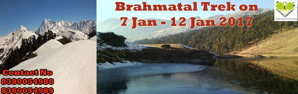 Book Online Tickets for  Beautiful Brahmatal Trek, Nainital. About The Event    Region:-Uttarakhand  Duration:- 6 Days Grade:- Easy To Moderate Max Altitude :- 12,100Ft Approx Trekking Km :- 22 Kms Dates:- 7 Jan - 12 Jan 2017                     &nbsp