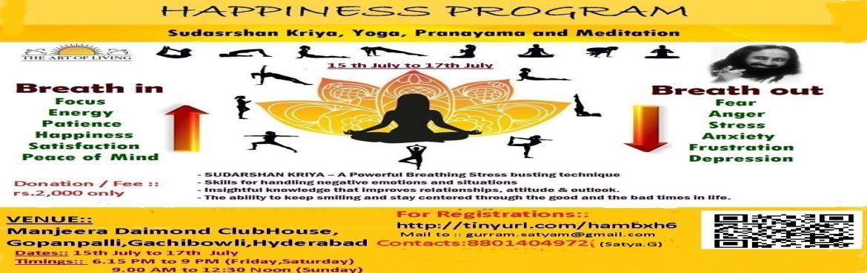 Book Online Tickets for ArtofLiving HappinessProgram, Hyderabad.