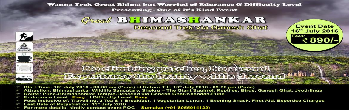 The Great Bhimashankar Trek, Descend Via Ganesh Ghat, 16th July 2016