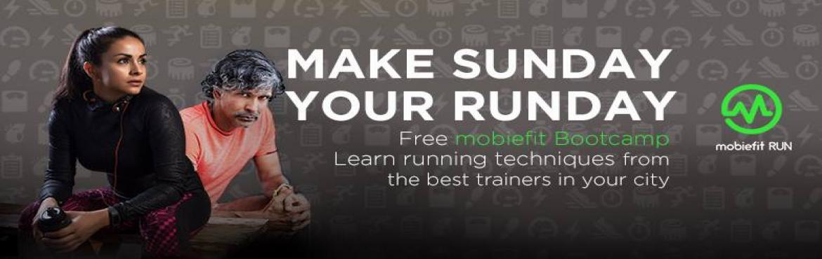 Book Online Tickets for mobiefit Running Bootcamp - District Par, NewDelhi. ME to 56161 to register and show up at the below venue this Sunday nnPlease come in comfortable running gear and carry your smartphone along with a bottle of water for training. nnDownload the mobiefit RUN app before the session and get personalised