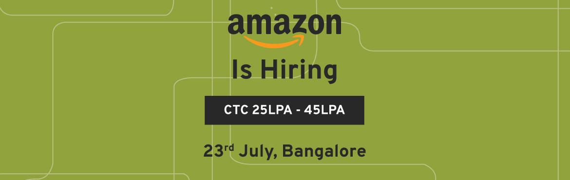 Book Online Tickets for Amazon Hiring 4+ Yrs Experience Software, Bengaluru. Amazon invites smart, talented and innovative software development engineers to join The Appstore Technology team in Bangalore in building curated catalog of high-quality third-party mobile apps. We are expanding our charter to go multi-tenant and em