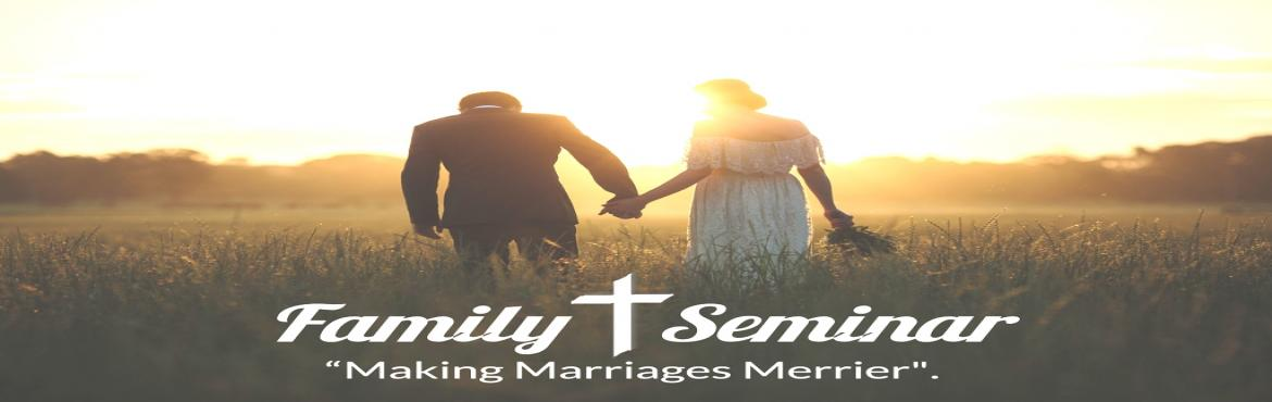 Book Online Tickets for Family Seminar, Bengaluru. This Seminar is for Married Couples who want to strengthen their relationship and build their marriage stronger. In this Seminar you will be covering topics like:  Building Strong Foundations The Art of Communication Resolving Conflict The Power of F