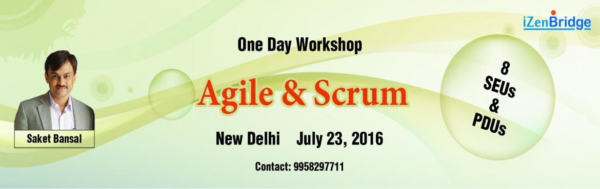 Book Online Tickets for One Day Agile and Scrum Workshop in Delh, Gurugram. Are you planning to start your career in Agile and Scrum but lack confidence in taking this step? Does your company or team want to adopt agile, but you feel you don\'t have necessary knowledge to make this move? Is there a new develop