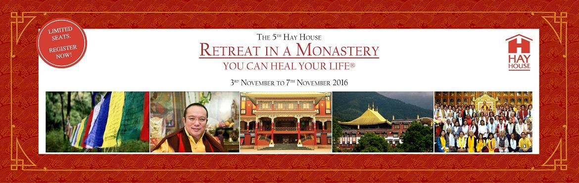 Book Online Tickets for Retreat in a Monastery: Discover the Bud, Dharamshal. Hay House Publishers India is delighted to announce its 5th 'Retreat in a Monastery' at the breathtaking Palpung Sherabling Monastery situated in the lap of Western Himalayas near Dharamshala in Himachal Pradesh – the seat of one of