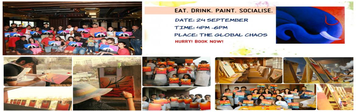 Book Online Tickets for Eat. Drink. Paint. Socialise, Mumbai.   The Paint Social is a social painting party where you will not only create something beautiful to hang in your house or give as a gift, you\'ll have fun!  We are bridging the gap between fine art and FUN art. Come and learn the basics of