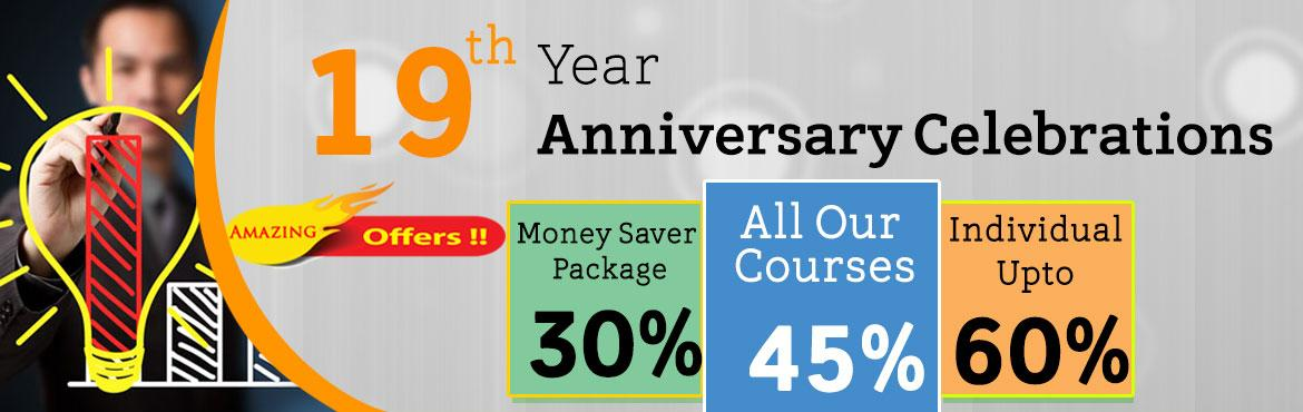 Book Online Tickets for Prices Never Before Upto 60 Percent Off , Hyderabad. GET READY TO ENTER THE WORLD OF DISCOUNTS ON OUR TRAINING COURSES  On 15th July 1997 we started our journey, since then we have been earnestly playing our part in the local and global IT community. We have transformed the way technology education is