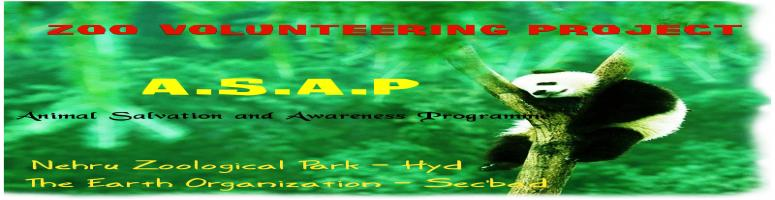 Animal Salvation and Awareness Programme (A.S.A.P) - Zoo Volunteering Project