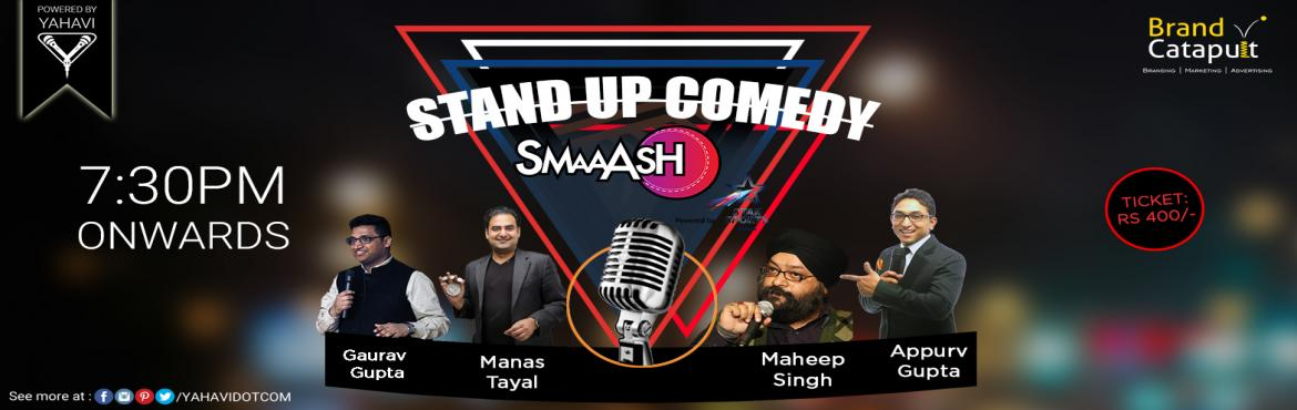 Book Online Tickets for Stand Up Comedy at Smaaash, Noida, Noida. Up for a laugh riot? If you're in Noida anyhow on Sunday, you don't have to walk a mile. Bump into Smaaash and witness stand-up comedy show featuring new and seasoned comedians. #Lineup#MaheepSingh#GauravGupta#ManasTayal#AppurvGupta. Powe