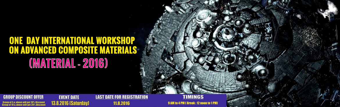 Book Online Tickets for MATERIAL-2016, Chennai.       POSTER LINK :   http://www.topengineers.co.in/poster/material2016.jpg       VENUE   ICSA SEMINAR HALL, POST BOX 771, NO: 107, PANTHEON ROAD, (OPPOSITE TO EGMORE MUSEUM), EGMORE, CHENNAI – 600 008 TAMILNADU, INDIA.       REG