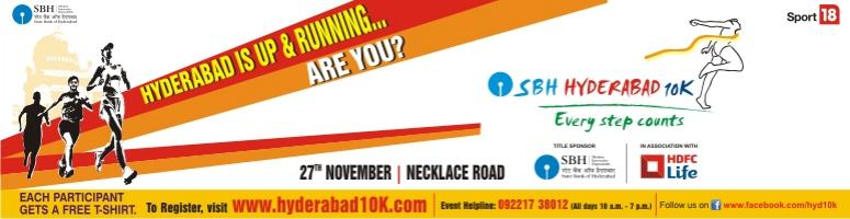 Book Online Tickets for Hyderabad 10K Run on 27th November 2011, Hyderabad.  FaceBook Page:https://www.facebook.com/hyd10k The Hyderabad 10K Run Foundation is a \\\