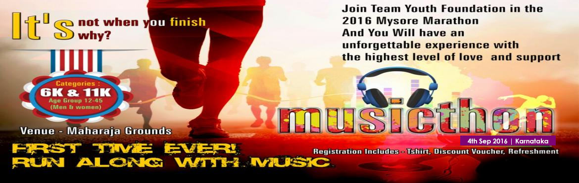 Book Online Tickets for MUSICTHON, Mysuru. It is organised by registered NGO \