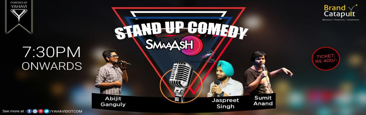 Book Online Tickets for Stand Up Comedy at Smaaash, Noida, Noida. Up for a laugh riot? If you're in Noida anyhow on Sunday, you don't have to walk a mile. Bump into Smaaash and witness stand-up comedy show featuring new and seasoned comedians. #Lineup#AbijitGanguly#JaspreetSingh#SumitAnand. Powered By: