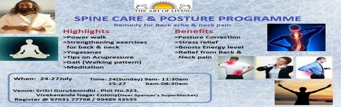 Book Online Tickets for SpineCare and Posture, Hyderabad. For #SoftwareEngineers who are suffering with#BackPain , #NeckPain, This program is especially 4 u