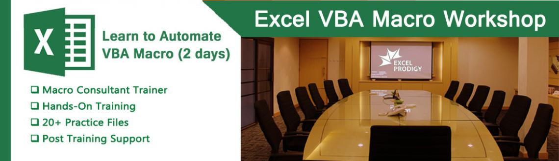 Book Online Tickets for Excel VBA Macro Training for Working Pro, Chennai. Excel VBA Macro Training Training Date: September 24th & 25th  2016 Timing: 9:30AM - 5:30PM Location: Excel Prodigy, Valasarawakkam Training Fee: Rs. 7500 Participants will be served with Lunch & Refreshemnt for Both Days