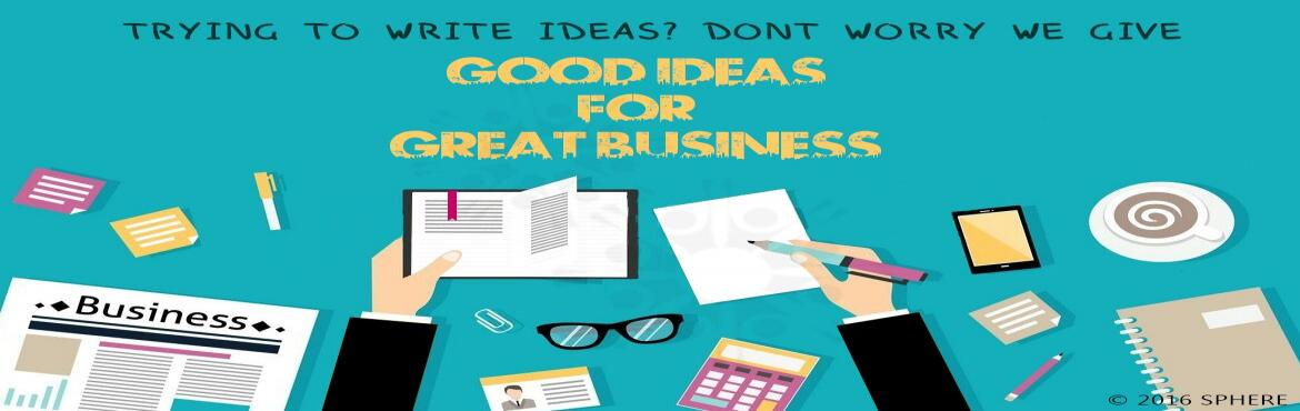 Book Online Tickets for Good Ideas For Great Business Tour copy, Bengaluru. To be a successful entrepreneur or really, a successful anything you need to be able to recognize an opportunity when you see one. Specifically, you need to be able to identify a problem or gap, and come up with an innovative solution. (Of course you