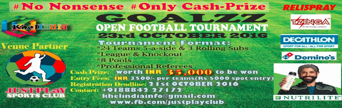 KhelINDIA GOALZZ-Open Football Tournament