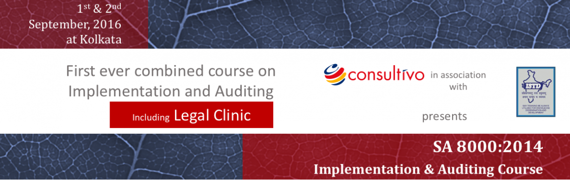 This practical 2 day program is to refresh and review the structure  basic requirements of SA 8000  enable professionals to implement  conduct interna