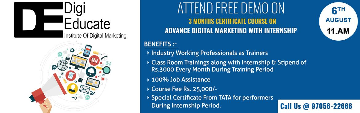 Demo On Advanced Digital Marketing Training With Internship